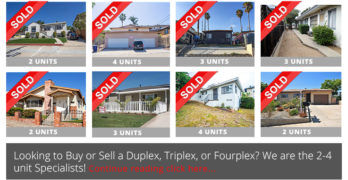The Premier Resource for San Diego Duplexes, Triplexes, and Fourplexes