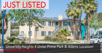 University Heights 4 Units: Just Listed!